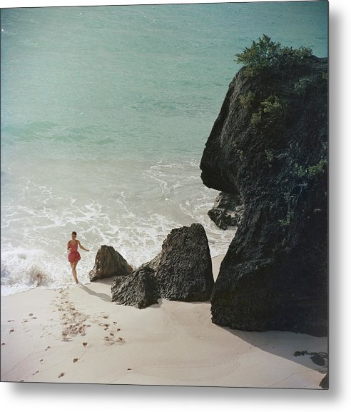 People Metal Print featuring the photograph Bermuda Beach by Slim Aarons