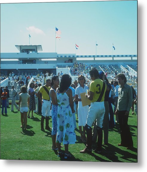 Horse Metal Print featuring the photograph Boca Raton Polo Set by Slim Aarons