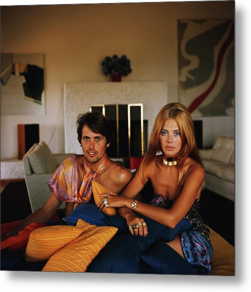 Actress Metal Print featuring the photograph Britt And Her Brother by Slim Aarons