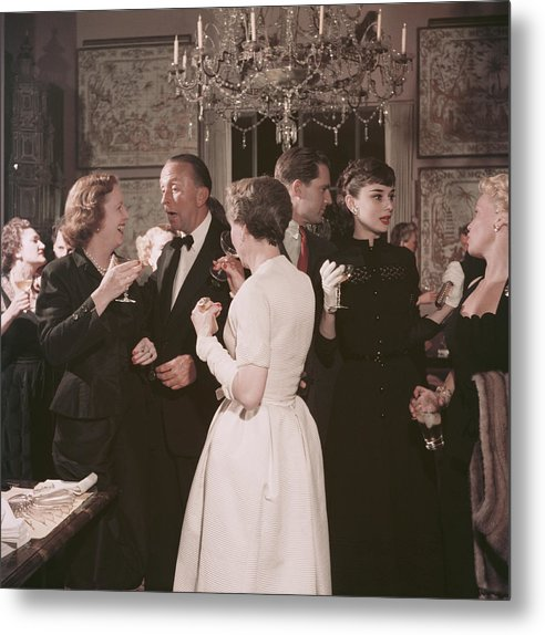 Belgium Metal Print featuring the photograph Californian Party by Slim Aarons