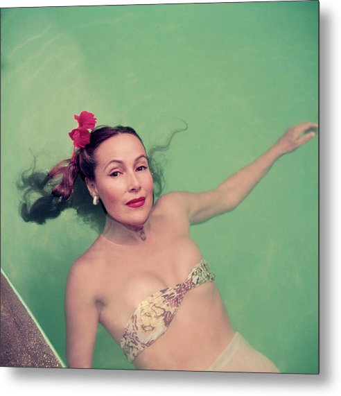 Dolores Del Rio Metal Print featuring the photograph Dolores Del Rio by Slim Aarons