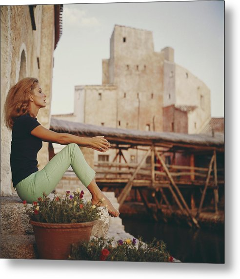 Tranquility Metal Print featuring the photograph Dolores Guinness by Slim Aarons