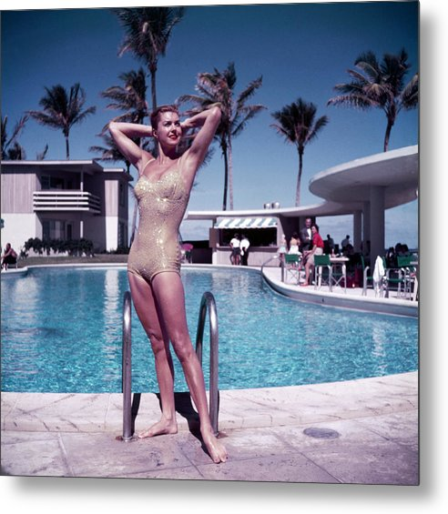 Esther Williams Metal Print featuring the photograph Esther Williams In Florida by Slim Aarons