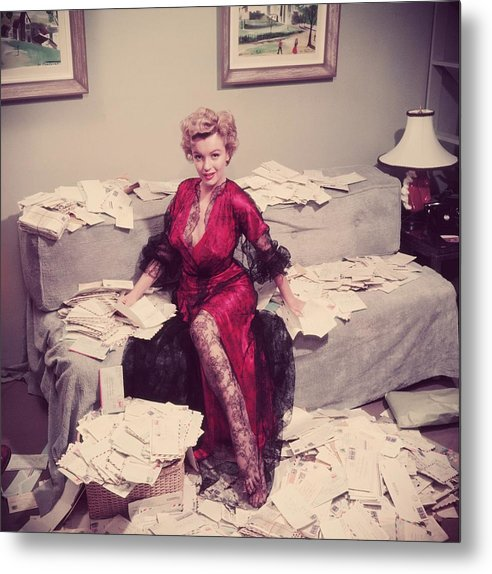 Marilyn Monroe Metal Print featuring the photograph Fan Mail by Slim Aarons