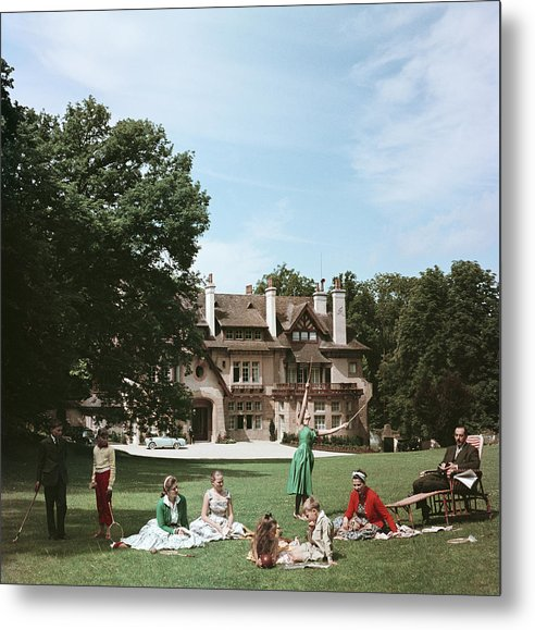 Child Metal Print featuring the photograph French Stately Home by Slim Aarons