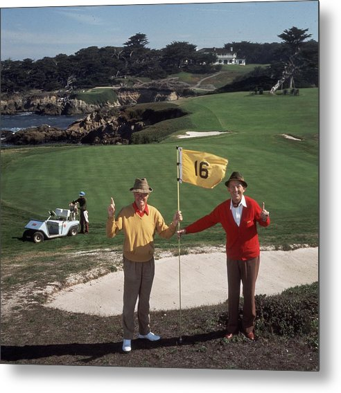 Recreational Pursuit Metal Print featuring the photograph Golfing Pals by Slim Aarons