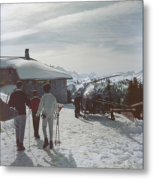 Gstaad Metal Print featuring the photograph Gstaad by Slim Aarons