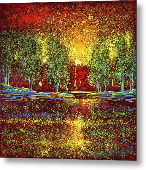 Ford Smith Metal Print featuring the painting Happy Commotion by Ford Smith