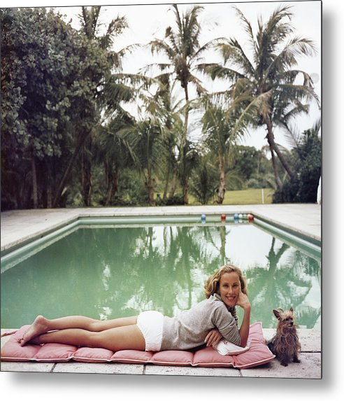 Pets Metal Print featuring the photograph Having A Topping Time by Slim Aarons