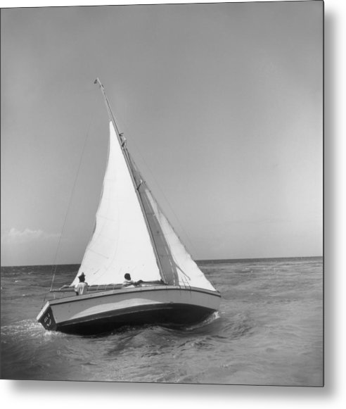 1950-1959 Metal Print featuring the photograph Jamaica Sea Sailing by Slim Aarons