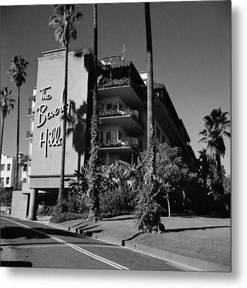 Shadow Metal Print featuring the photograph La Hotel by Slim Aarons