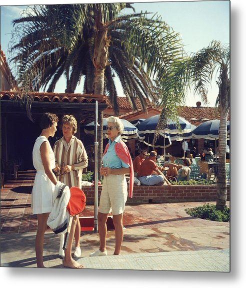 Tennis Metal Print featuring the photograph La Jolla Club by Slim Aarons