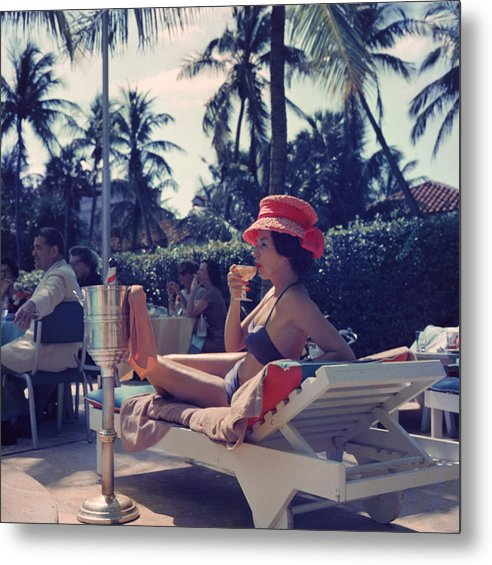 People Metal Print featuring the photograph Leisure And Fashion by Slim Aarons