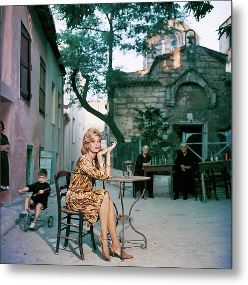 Child Metal Print featuring the photograph Melina Mercouri by Slim Aarons