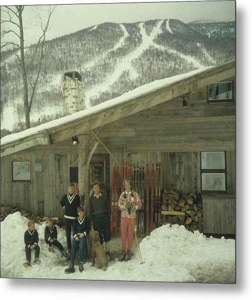 People Metal Print featuring the photograph On The Slopes In Stowe by Slim Aarons