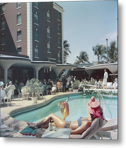 People Metal Print featuring the photograph Palm Beach by Slim Aarons