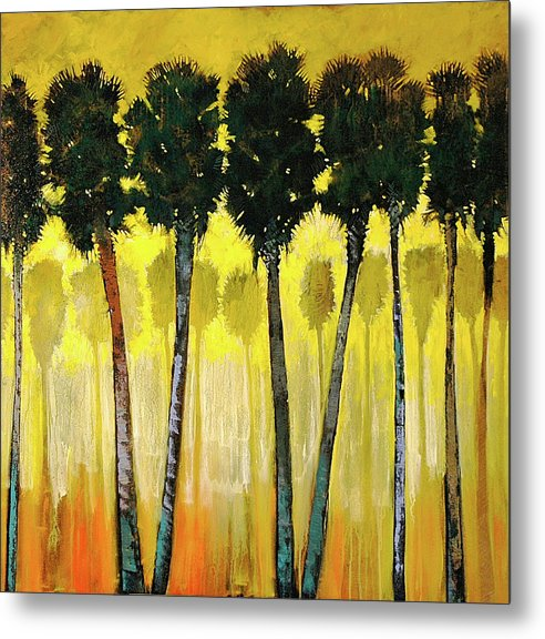 Ford Smith Metal Print featuring the painting Palm Friendly by Ford Smith