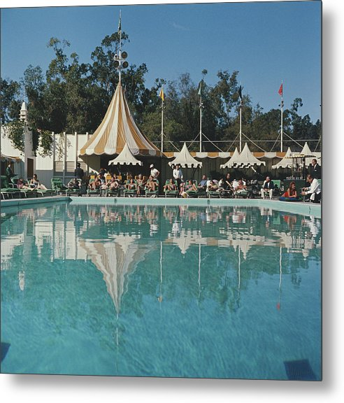 Poolside Reflections Metal Print