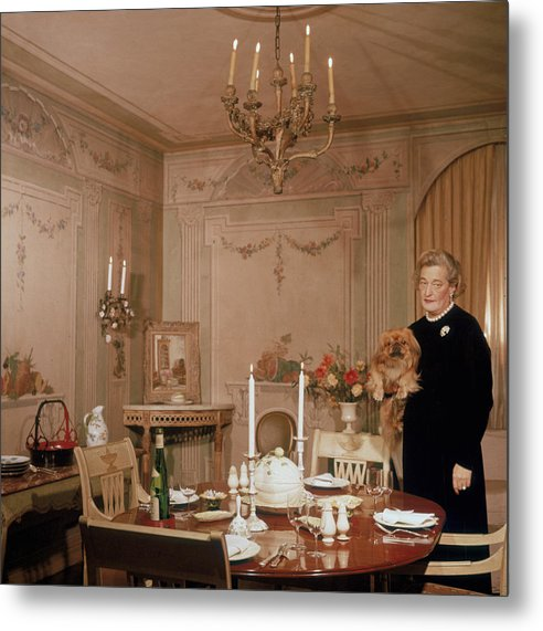 Pets Metal Print featuring the photograph Sister Parish by Slim Aarons