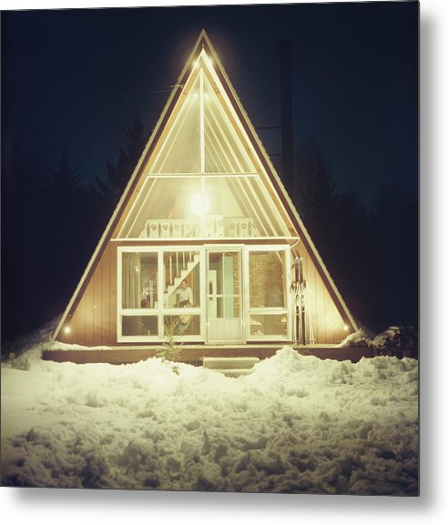 Triangle Shape Metal Print featuring the photograph Skaal House In Stowe by Slim Aarons