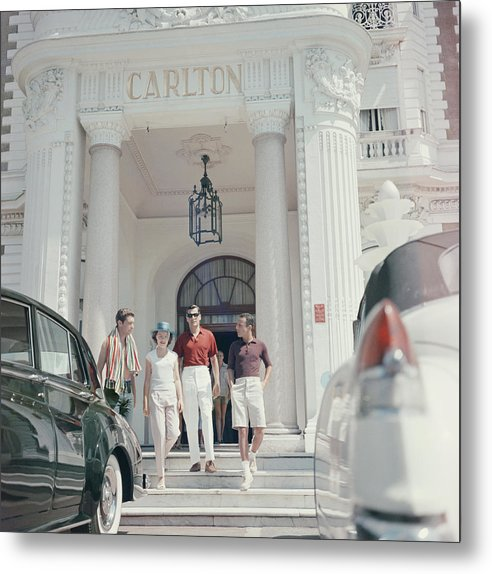 People Metal Print featuring the photograph Staying At The Carlton by Slim Aarons