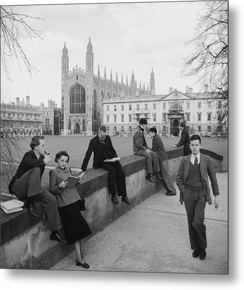 Education Metal Print featuring the photograph Students At Cambridge by Slim Aarons