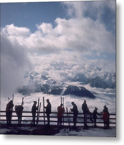 Scenics Metal Print featuring the photograph Verbier View by Slim Aarons