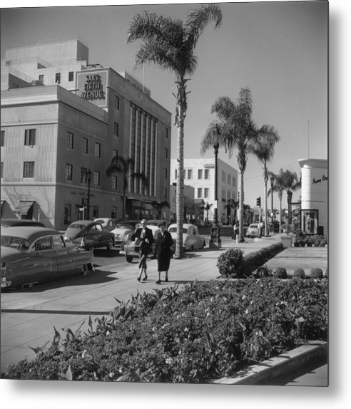 1950-1959 Metal Print featuring the photograph Wilshire Boulevard by Slim Aarons