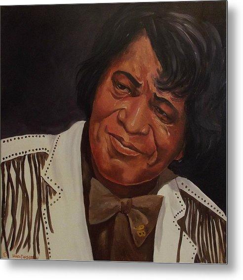 James Brown Metal Print featuring the painting Tears Of Joy by Wanda Dansereau