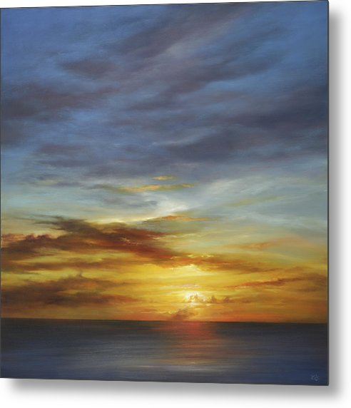 Sunset Metal Print featuring the painting Whisper to me by Cheryl Kline