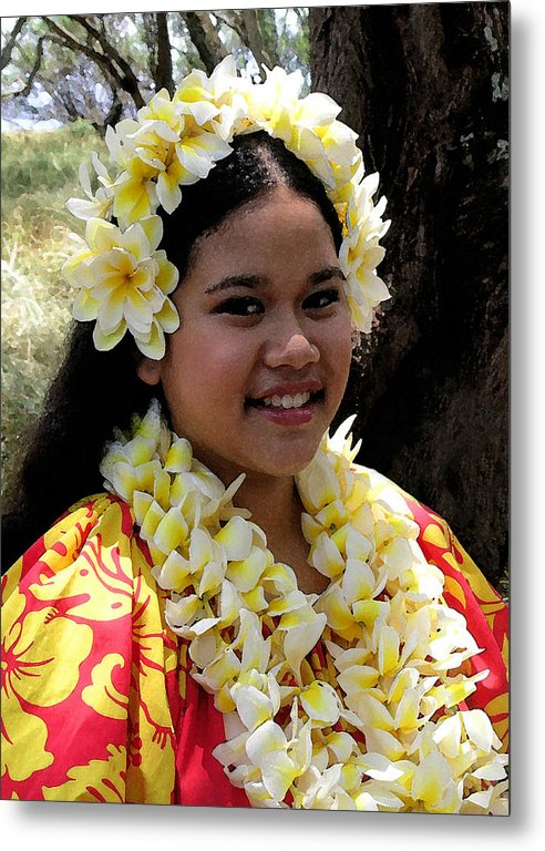 Hawaii Iphone Cases Metal Print featuring the photograph Hula Girl by James Temple