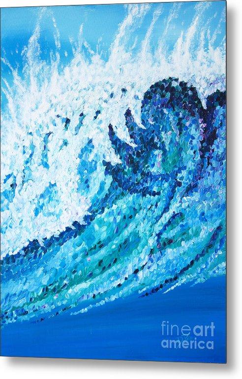 Ocean Metal Print featuring the painting Watercolor by JoAnn DePolo