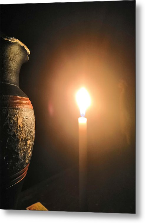 Candle Light Metal Print featuring the photograph Light In The Dark by Ian Batanda