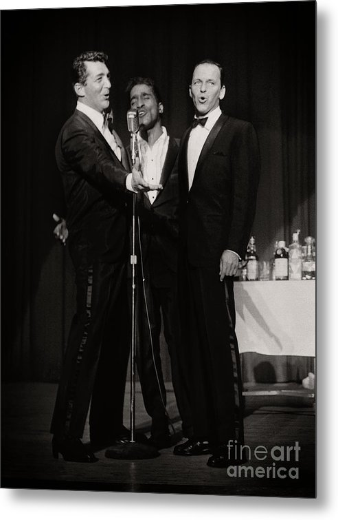 Dean Martin, Sammy Davis Jr. and Frank Sinatra. by Doc Braham