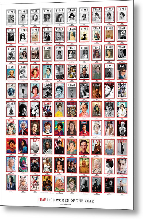 100 Women Of The Year Metal Print featuring the photograph TIME 100 Women of the Year Poster - For artist credits visit time.com/100-women-of-the-year by Various Artists