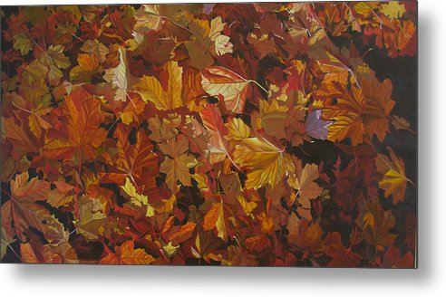 Fall Metal Print featuring the painting Last Fall in Monroe by Thu Nguyen