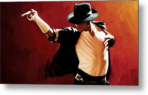 Michael Jackson Paintings Metal Print featuring the painting Michael Jackson Artwork 4 by Sheraz A