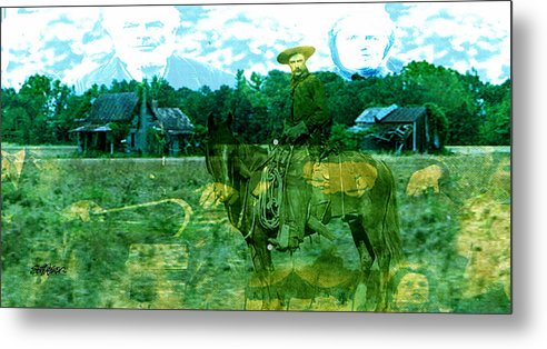Shadow On The Land Metal Print featuring the digital art Shadows On The Land by Seth Weaver