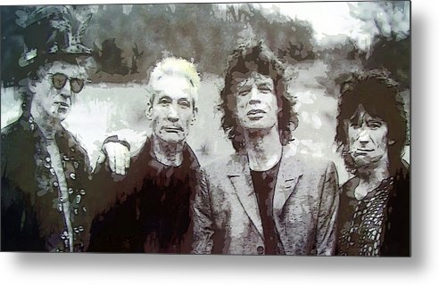 the Rolling Stones Metal Print featuring the digital art The Rolling Stones by Daniel Hagerman
