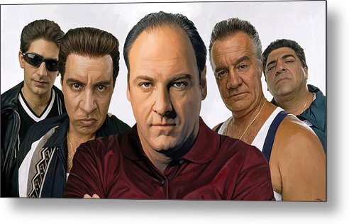 The Sopranos Paintings Metal Print featuring the painting The Sopranos Artwork 2 by Sheraz A