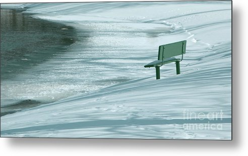 Winter Metal Print featuring the photograph Wintry Riverside by Ann Horn