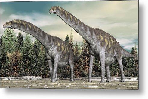 Argentinosaurus Metal Print featuring the digital art Argentinosaurus by Walter Colvin