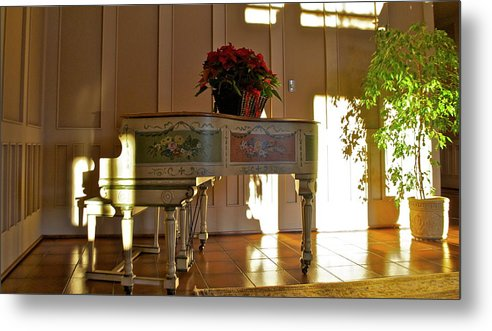 Metal Print featuring the photograph Piano in Light by Lori Leigh