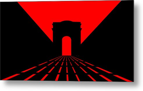 Champs Elys�es Metal Print featuring the digital art Inspired by Champs Elysees and Parisian Dusk by Asbjorn Lonvig