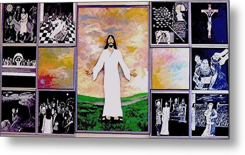 Jesus Metal Print featuring the relief All - 1 by Richard Hubal