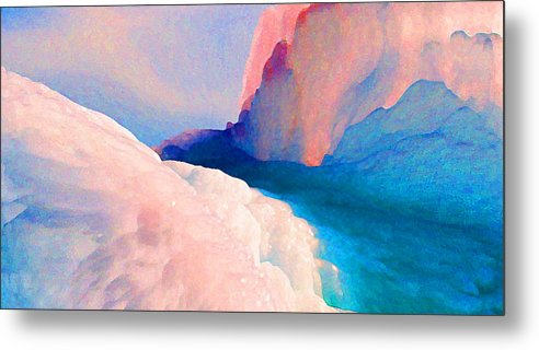 Abstract Metal Print featuring the photograph Ebb and Flow by Steve Karol