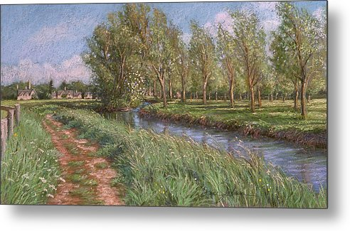 Cotswolds England Metal Print featuring the painting England Spring by L Diane Johnson