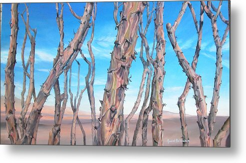 Floral Painting Metal Print featuring the painting Ocotilla by Muriel Dolemieux