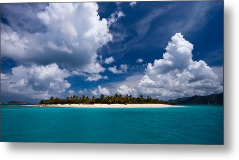 3scape Metal Print featuring the photograph Paradise is Sandy Cay by Adam Romanowicz