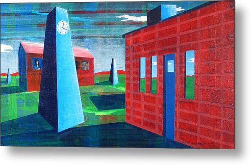 Surrealism Metal Print featuring the painting This Moment Is Your Life by Rollin Kocsis